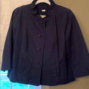 J.Crew ruffle collar swing jacket